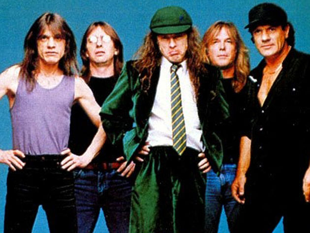 AC/DC - not quite dressing like millionaires yet