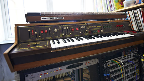 A rare Solina and a Prophet-5 that's for sale.