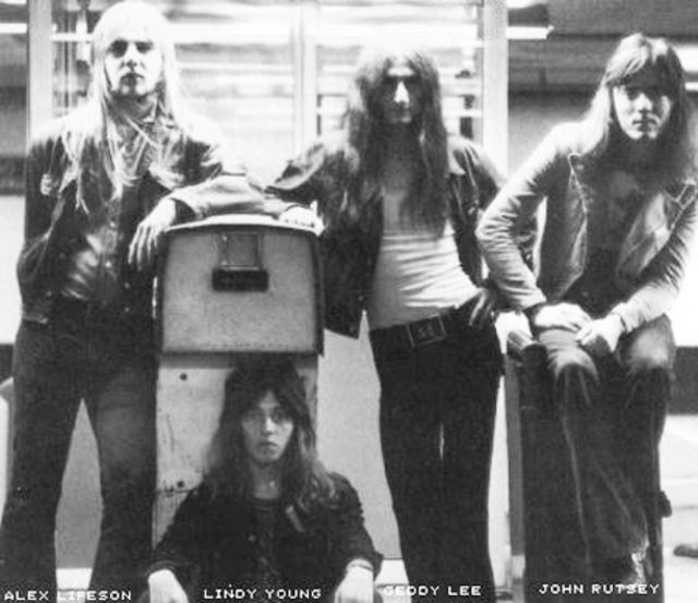 Rush in 1969 with John Rutsey (far right).