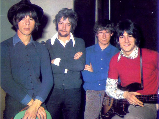 Jeff Beck Group: (From left to right) Jeff Beck, Rod Stewart, Mickey Waller and Ronnie Wood