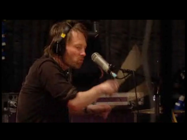 Thom Yorke in Nigel Godrich's very large basement