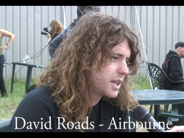 Airbourne's David Roads is a fan of Rose Tattoo