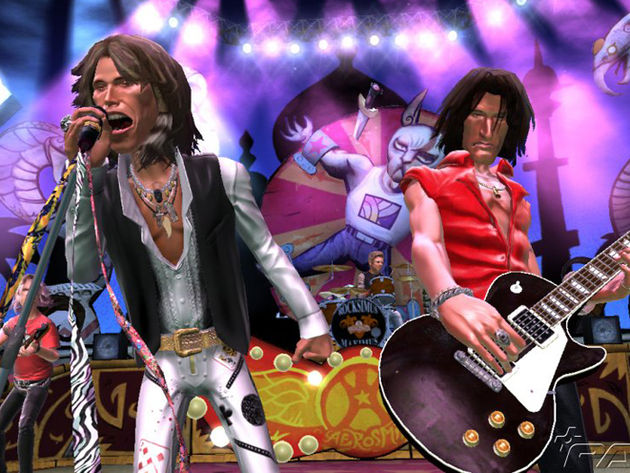 Aerosmith in Guitar Hero - they look just like the real cartoons to us.