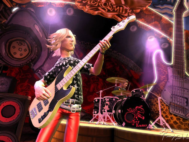 The unreal Tom Hamilton in Guitar Hero: Aerosmith.