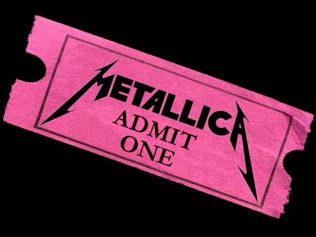 A random Metallica ticket. We couldn't afford a Madonna one.