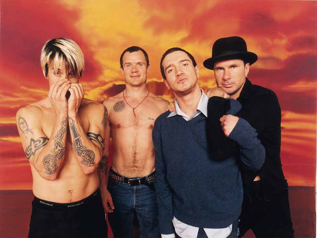 Flea (second left) is going back to college