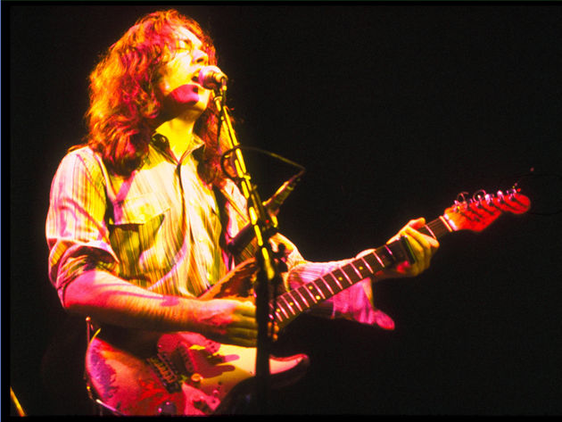 Rory Gallagher playing one of his famous Strats