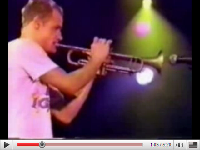 Flea: he's always blowing his own trumpet