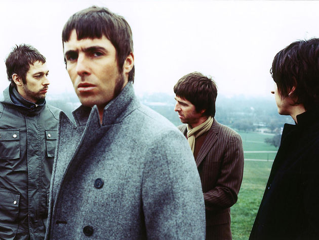 Noel takes on lead vocal duties on Falling Down, which Liam looks thrilled about