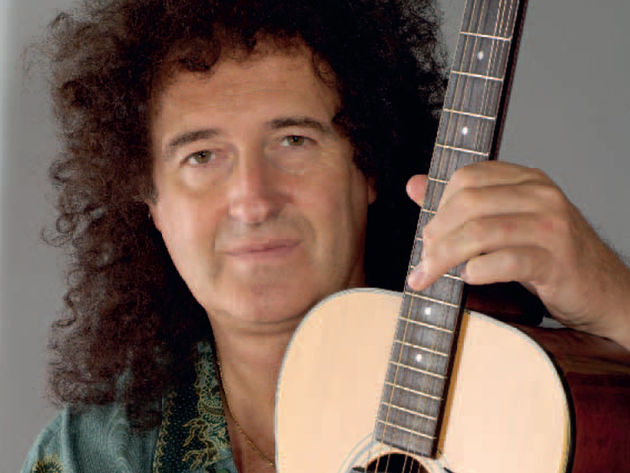 Quick, run, it's Brian May...