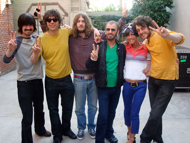 The Zutons with The Beatles' Ringo Starr