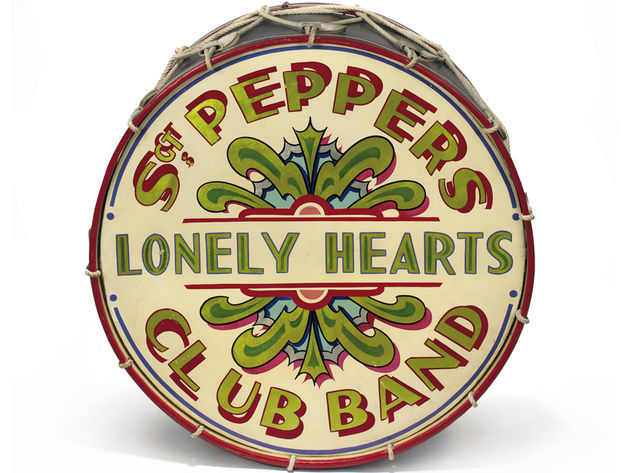 The actual drum used on the Cover of Sgt. Peppers Lonely Hearts Club Band