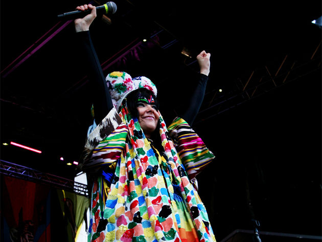 Björk: She's actually appropriately dressed for chilly Iceland