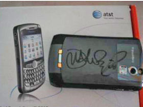 John Mayer autographed BlackBerry Curve for sale on eBay