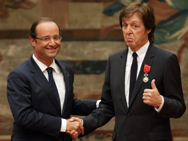 With Francois Hollande, 2012