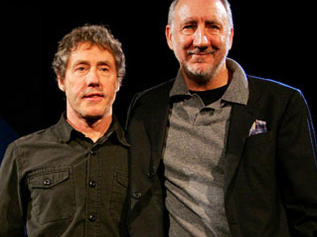 Townshend and Daltrey are looking very pleased with themselves