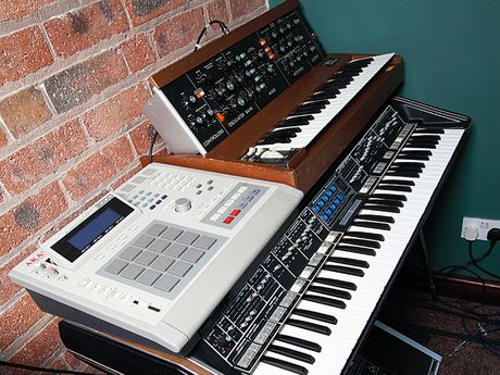MPC3000, Minimoog and Polymoog