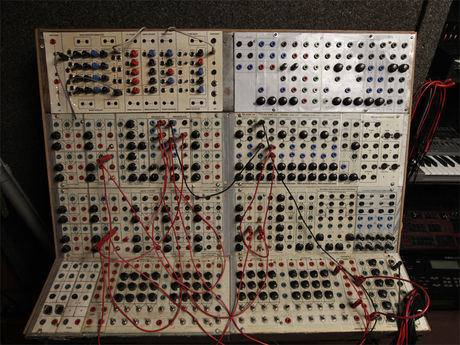 A Serge Modular from 1973-ish, made in California by hippies.