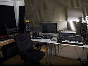 In pictures: Dom Kane's Cardiff studio