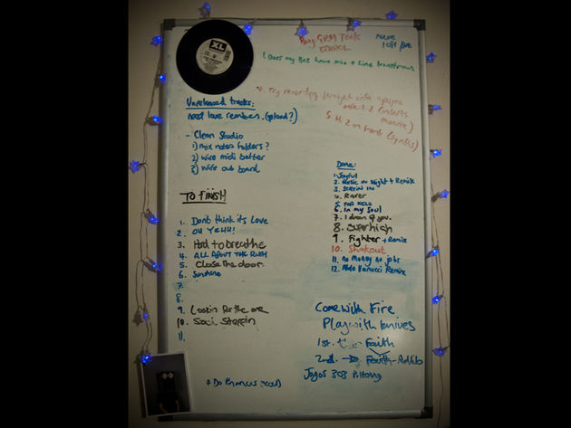 The white board