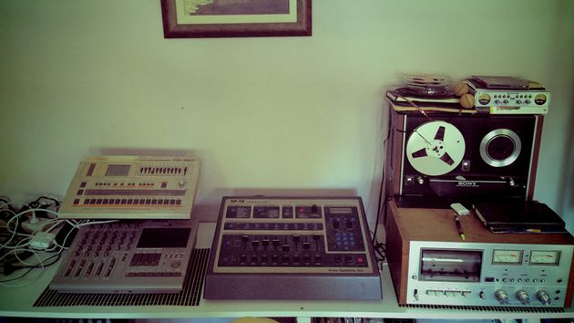 Vintage mixers and tape machines