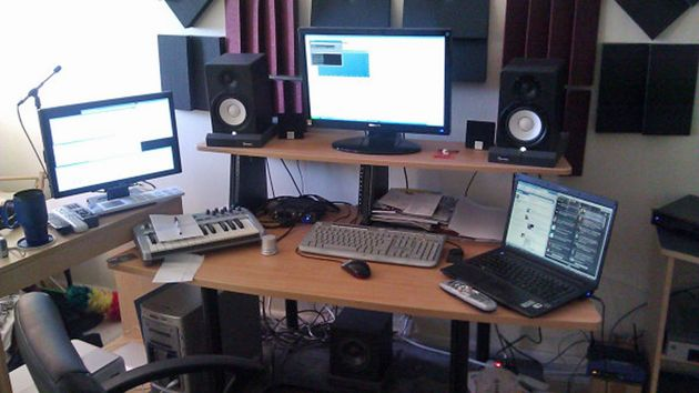 Andrew Chibale's studio
