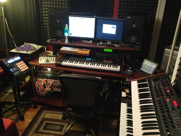Brett Adams' studio