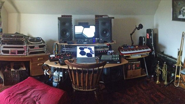 Ian Stewart's studio