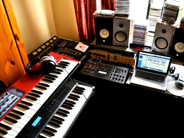 Jamie Rowland's studio