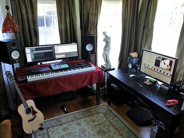 Leon Alvier's studio