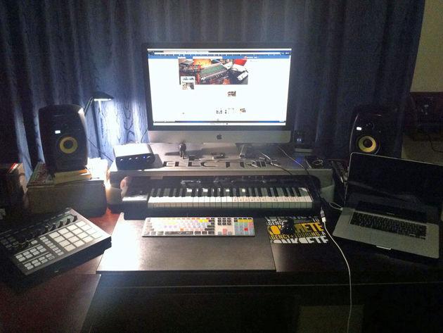 Luke Elektrik's studio