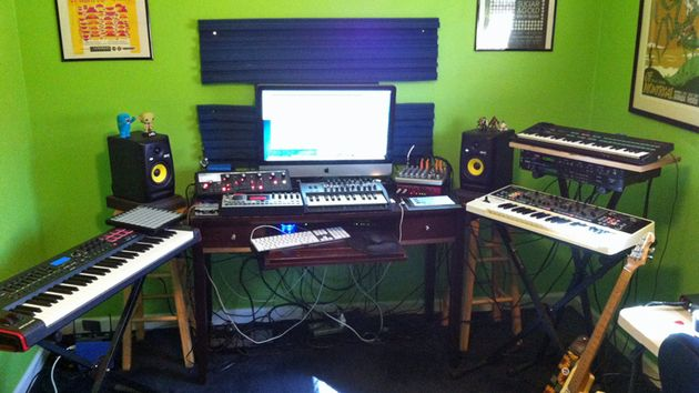 Paul Nunn's studio