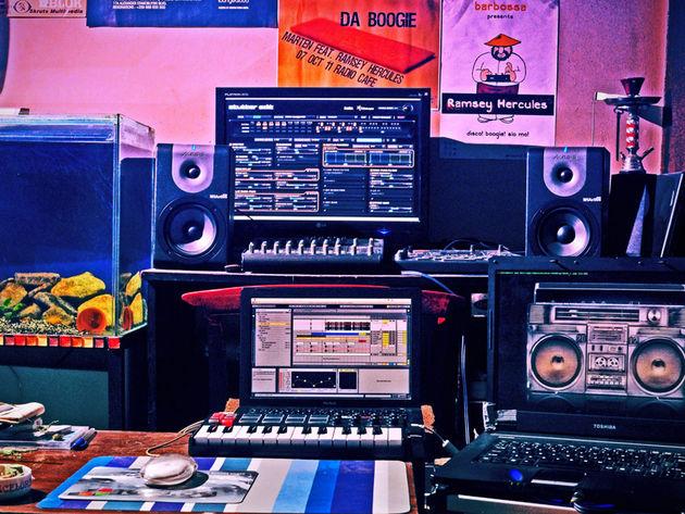 Ramsey Hercules' studio