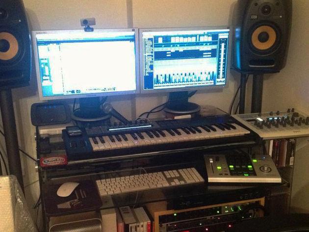 Terry Marsden's studio