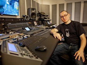 Richard devine in the studio