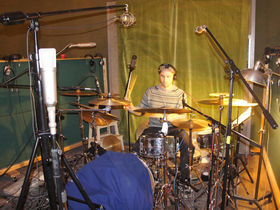 Me in my studio: Submotion Orchestra