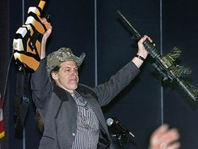 Ted Nugent shoots rabbit on movie set
