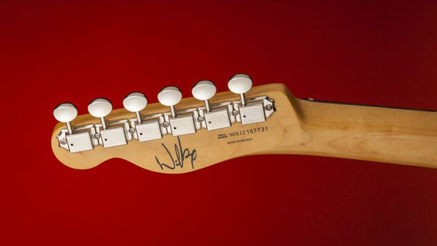 Wilko's signature is classily positioned on the back of the headstock