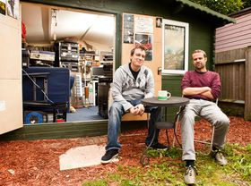 In pictures: Plaids's studio in a shed