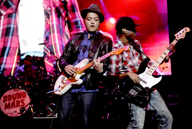 Bruno Mars and The Hooligans play live in San Jose, California