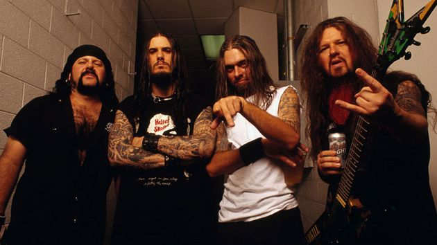 Pantera, 2001: (from left) Vinnie Paul, Philip Anselmo, Rex Brown and Dimebag Darrell