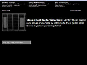 Classic rock guitar solo quiz