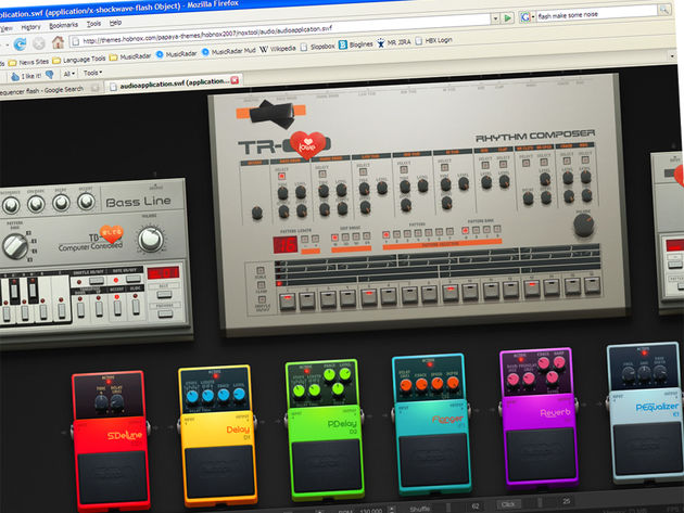 Flash music making tools like the Hobnox Audiotool are becoming more advanced