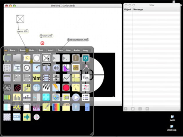 Max/MSP features all manner of objects specifically for audio
