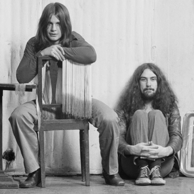 Bill Ward (right) with Ozzy Osbourne