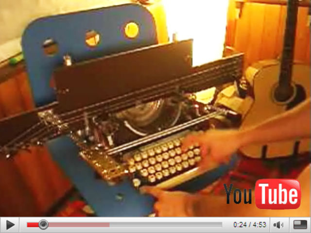 The noisiest typewriter of all time?