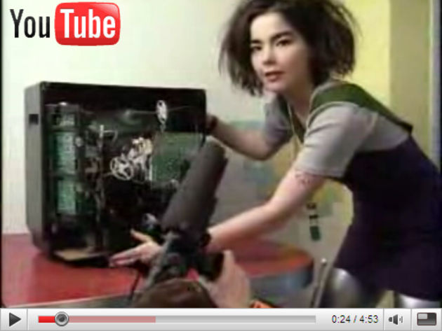 To our eyes, Björk hasn't quite got the hang of the TV sales game quite yet