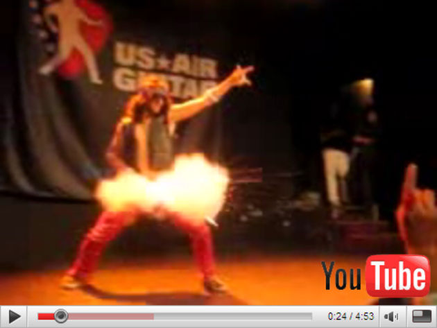 This could happen to you if you play air guitar...