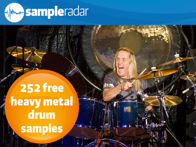 Iron Maiden drummer Nicko McBrain: hits his drums hard.