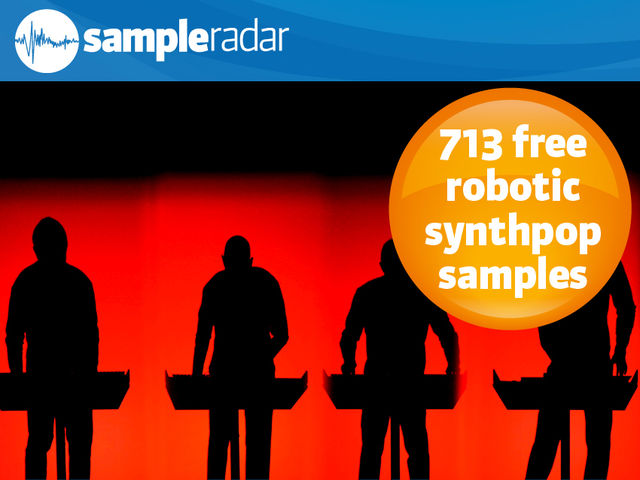 713 free robotic synthpop samples
